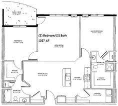 bush  amp  beach floor plan   Home Concepts   Pinterest   Floor Plans     Bedroom House Plans Free   sq ft year lease bedroom bath plan