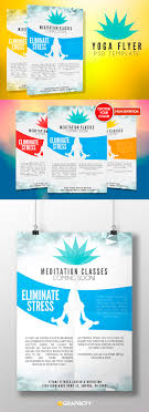 yoga flyer template psd flyer templates graphicfy yoga flyer template