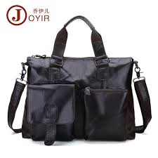 <b>JOYIR</b> Business Briefcase <b>Men Genuine Leather</b> Messenger ...