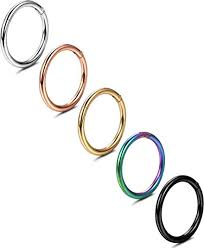 Jstyle <b>5 Pcs</b> a Set <b>316L Stainless Steel</b> Septum Piercing Nose Hoop ...
