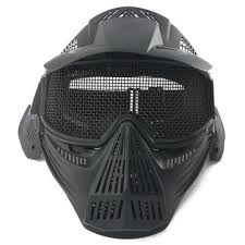 Tactical airsoft pro full face mask with safety metal goggles ...