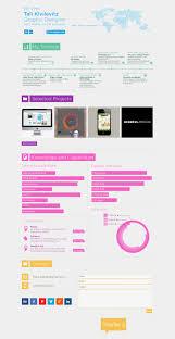self promotion cv redesign tali k graphic designer