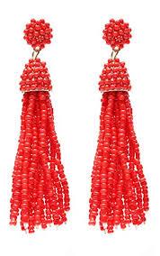 NLCAC Women's Beaded <b>tassel earrings</b> Long Fringe <b>Drop</b> ...