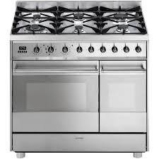 Gas Stainless Steel Cooktop Buy Online Stove Gas Smeg C92gmx8 Made Of Two Ovens In Israel