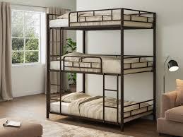 <b>Трехъярусная кровать Эверест</b> Коричневый купить по цене 23 ...