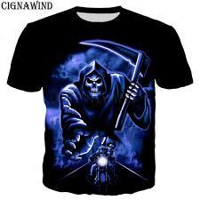 Купить Футболки   New Hot Punk <b>Skull Punisher</b> Grim Reaper ...