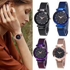 Dazone - <b>Luxury</b> Women <b>Starry Sky Watch</b> Magnet Strap Buckle ...