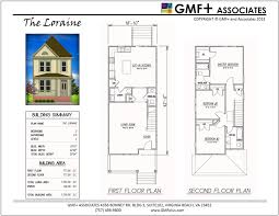 Urban Redevelopment House PlansThe Loraine   A Painted Lady house plan is a  bedroom two story