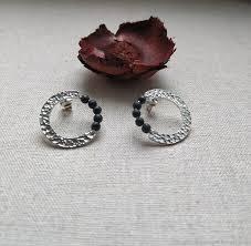 <b>Серьги кольца с черными</b> агатами – заказать на Ярмарке ...