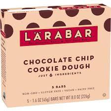 Larabar <b>Fruit</b> And <b>Nut Bar</b> - Chocolate Chip Cookie Dough 5 <b>Bars</b> ...