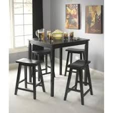 black kitchen dining sets: simple living black belfast  piece saddle dining set