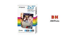 """<b>Polaroid 2 x 3</b>"""" Premium <b>ZINK</b> Photo Paper POLZ2X350 B&H"""