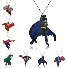 <b>1pcs Cartoon</b> Marvel Avenger Action Figure Collares <b>PVC</b> Charm ...