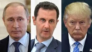 Resultado de imagem para Trump, Putin e Assad