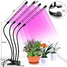 N_A <b>Wireless Remote</b> Control Four Head <b>Plant</b> Growth Lamp Clip ...