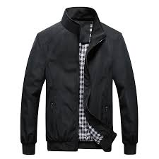 Quality <b>Bomber</b> Solid Casual <b>Jacket Men Spring</b> Autumn <b>Outerwear</b> ...