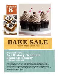 ahgss fundraising bake art history graduate students society bake poster