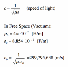 Maxwell     s Equations  The Wave Equation derivation for speed of light