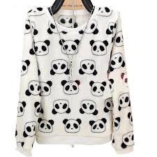 <b>2017 Fashion</b> Harajuku Cute Teddy Bear Panda <b>Women Sweater</b>
