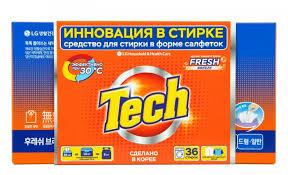 <b>Tech Средство</b> для стирки в листах Fresh breeze 36 шт ...