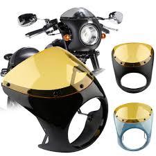 <b>Motorcycle</b> Cafe Racer Handlebar 7 inch Headlight <b>Windshield</b> ...