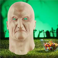 <b>Halloween</b> Realistic Ghastful Scary Old Man Mask <b>Cosplay</b> ...