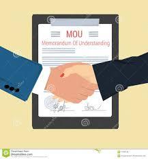 handshake memorandum of understanding stock vector image  handshake memorandum of understanding