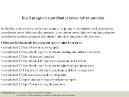 top program coordinator cover letter samples top 5 program coordinator cover letter samples in this file you can ref cover letter