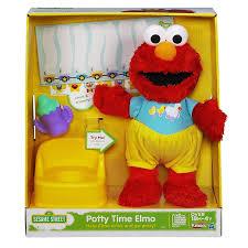 amazon com sesame street playskool potty time elmo plush toy amazon com sesame street playskool potty time elmo plush toy toys games