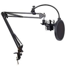 Pro Desktop Microphone Suspension Scissor Arm Stand Table ...