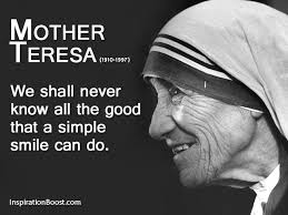 Smile Mother Teresa Quotes. QuotesGram via Relatably.com