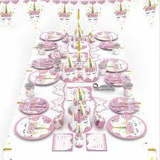 <b>Unicorn Party Decoration</b> Birthday Party <b>Disposable</b> Tableware Set ...
