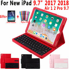 Top Removable Wireless <b>Bluetooth Keyboard Leather Case</b> Cover ...