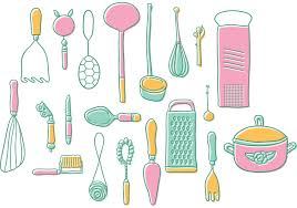 kitchen utensil:  vintage kitchen utensils vectors