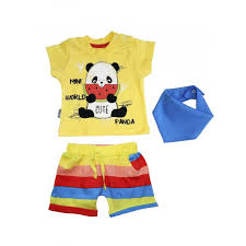<b>Комплект</b> Панда (<b>футболка</b>, <b>шорты</b>, нагрудник) Mini World ...