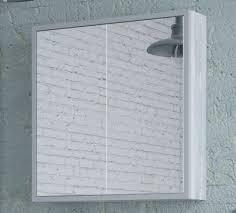 <b>Зеркальный шкаф 70х70 см</b> арт/серый Corozo Айрон SD-00000279