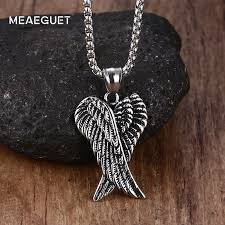 Meaeguet Vintage <b>Punk</b> Guards Necklaces Pendant <b>Stainless Steel</b> ...