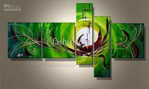 abstract green oil painting canvas handmade modern contemporary home office decoration wall art gift abstract oil painting art decoration oil painting green best office art
