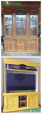 ideas china hutch decor pinterest: updating old furniture can be a frugal alternative to buying all new pieces get inspired with our repurposed china hutch into a tv stand
