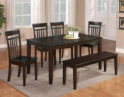 black kitchen dining sets:  kitchen dining sets with rectangular table made of wood and side chairs made of wood