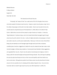 airport security essay  ofs riz ahmed says airport security  eng  research paper revised final