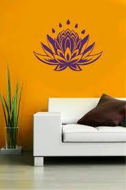 lotus flower vinyl decal yoga sticker cute floral decor water bottle decal namaste car yd30