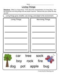 Living and Non-Living Things Worksheets - Page 3 of 5 - Have Fun ...characteristics living things worksheet 2