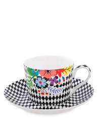 <b>Чашка с блюдцем</b> ''Цветочный модерн'' (Stechcol) Stechcol ...