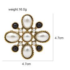 <b>CINDY XIANG New Arrival</b> Simulated pearl Cross Brooches for ...