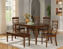 Kitchen Table With Benches Set Dining Room Rustic Dining Room Set With Bench And Chairs Best
