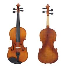 <b>Full Size 4/4 Violin</b> Natural Acoustic Solid Wood Spruce Flame ...