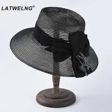Vintage Church Hats Luxury Brand Women <b>Straw Sun Hats Summer</b> ...