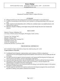 resume sampleschronological resume sample educator p