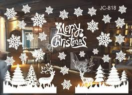 Home Décor Items <b>Christmas</b> Snow City Wall Stickers Window ...